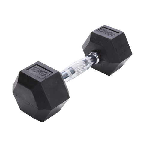 Fitquip 2kg Rubber Hex Dumbbell