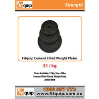 Fitquip Cement Filled Plastic Weight Plates